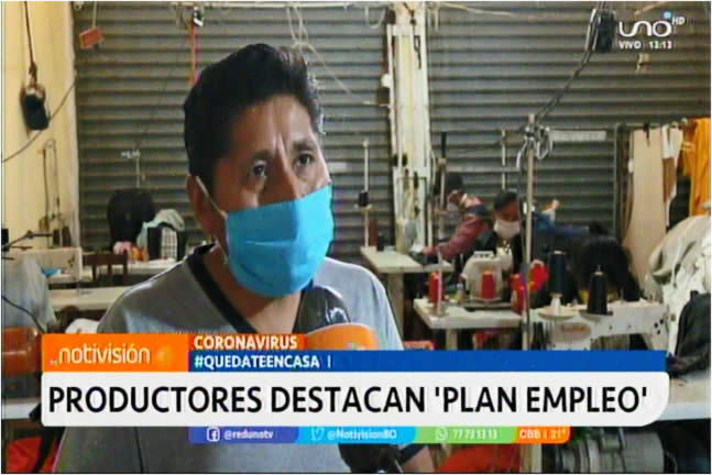 Micro y pequeña empresa destacan Plan Empleo anunciado por la Presidenta Áñez