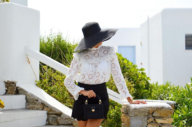 cappello paglia outfit