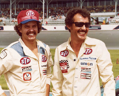 Richard Petty (right) and son Kyle Petty.