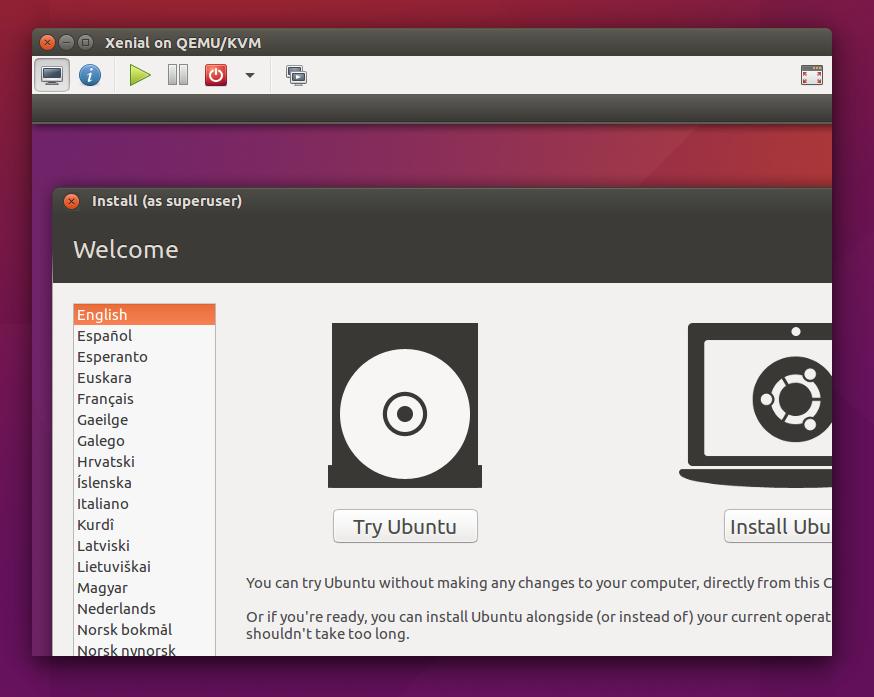 ubuntu machine manager