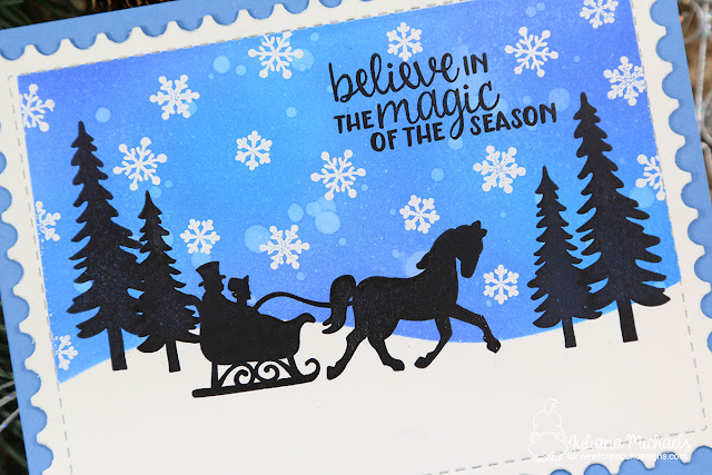 Believe In The Magic Card by Juliana Michaels featuring Newton's Nook Designs Winter Memories Stamp Set