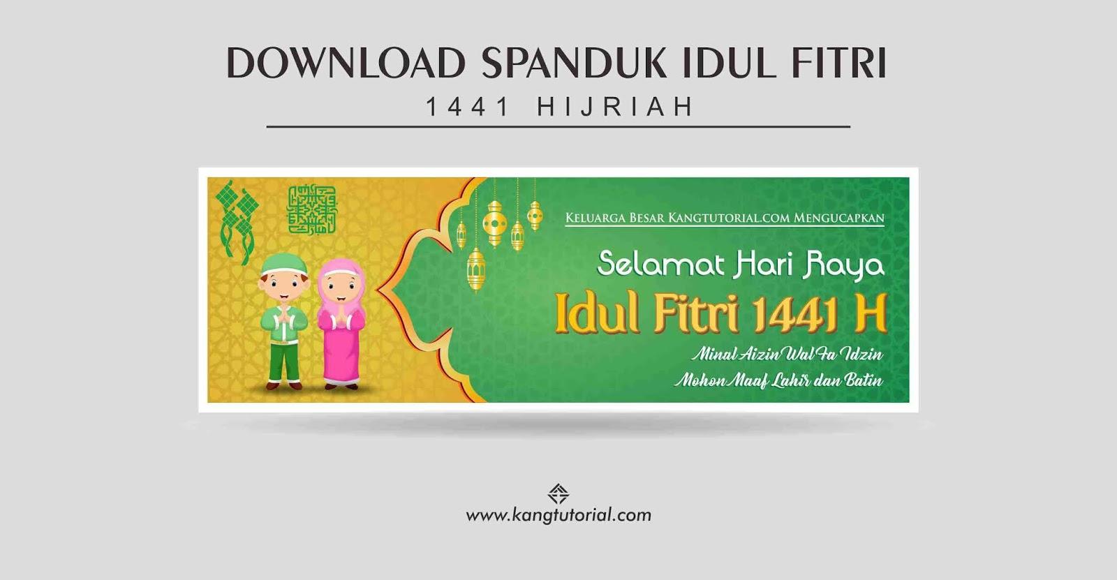 Download Spanduk Idul Fitri 1441 H Tahun 2020 Format CDR ...