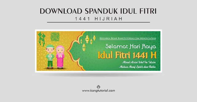 Download Spanduk Idul Fitri 1441 H Tahun 2020 Format CDR