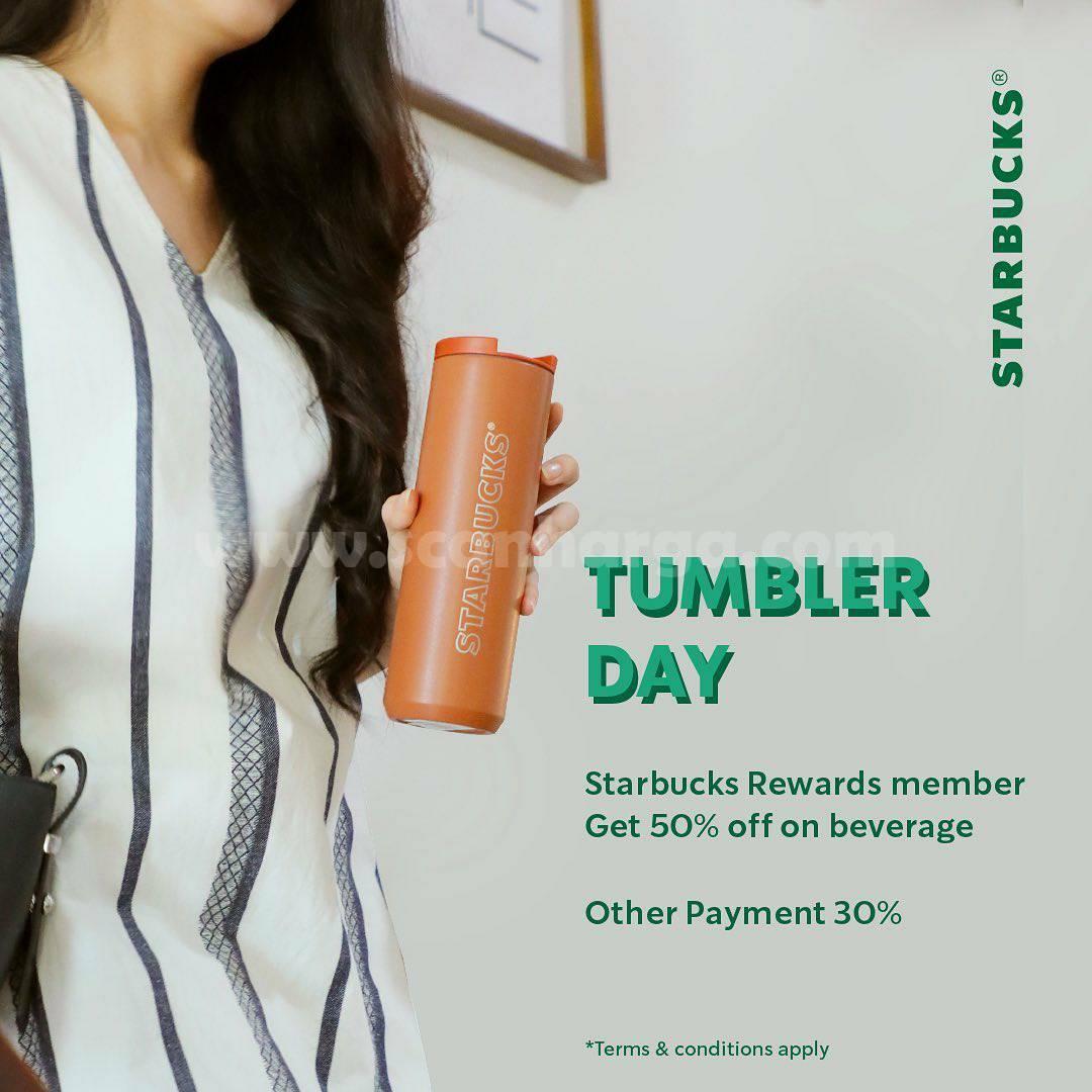 Promo STARBUCKS TUMBLER DAY DISKON 50%