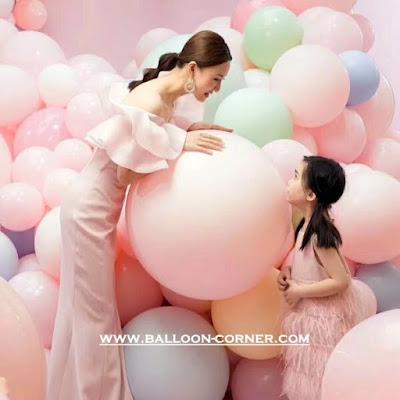 Balon Latex Macaron Jumbo (Ukuran 32 Inchi)