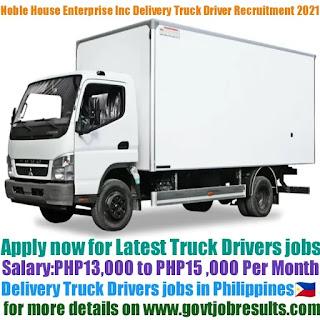 Noble House Distribution Enterprise Inc Delivery Truck Driver Recruitment 2021-22