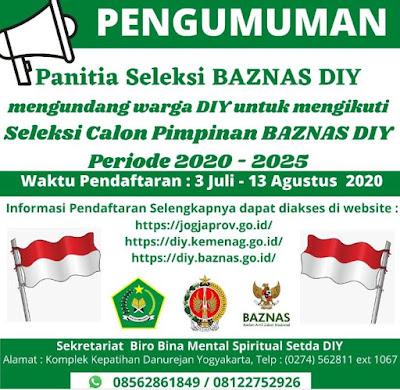 Lowongan Calon Pimpinan Baznas DIY 2020-2025