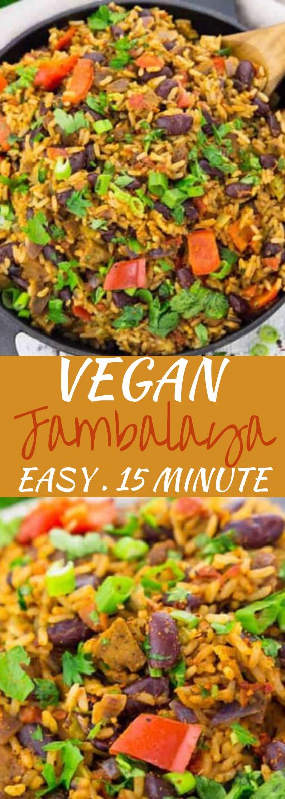 Vegan Jambalaya #vegetarian #dinner