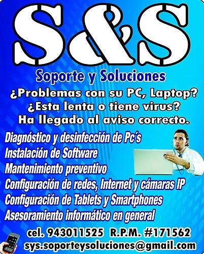 SOPORTE Y SOLUCIONES S&S