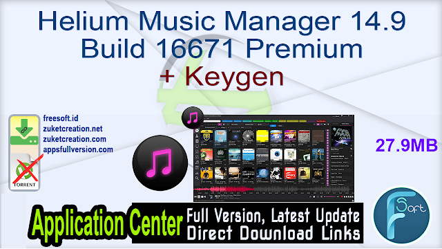 Helium Music Manager 14.9 Build 16671 Premium + Keygen