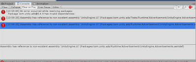 Assembly has reference to non-existent assembly 'UnityEngine.UI'