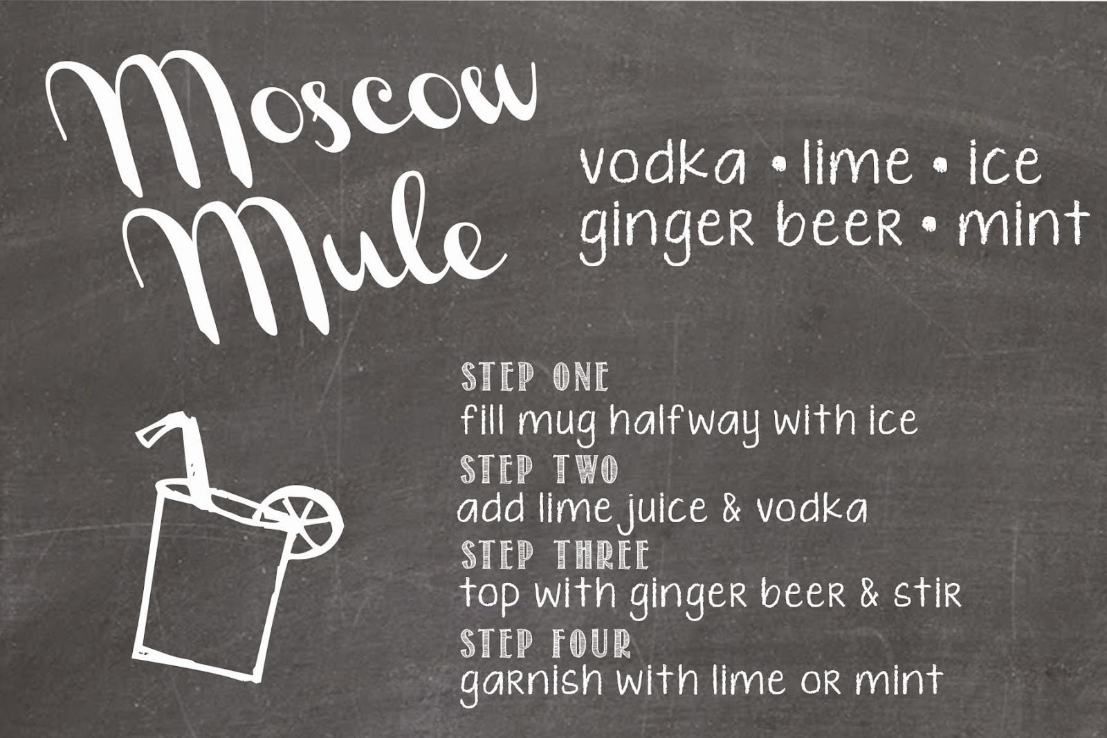 image regarding Moscow Mule Recipe Printable called Moscow Mule Recipe Card Equivalent Key phrases Recommendations