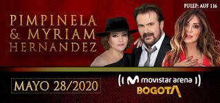 Concierto de PIMPINELA y Myriam Hernández en Colombia