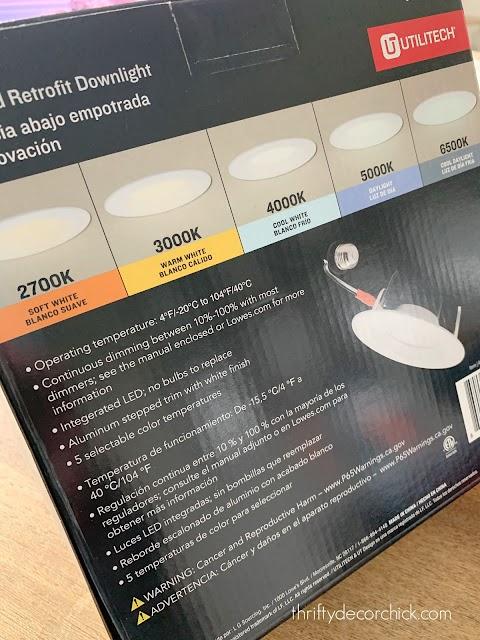 Adjustable light color LED can lights