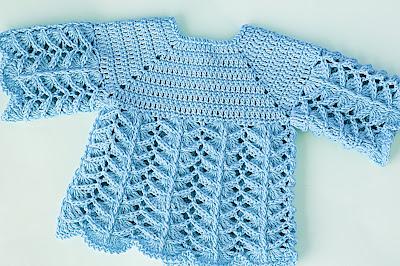5 - Crochet IMAGEN Chambrita rosa muy fácil y sencilla. MAJOVEL CROCHET