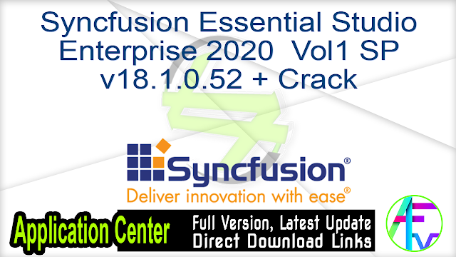 Syncfusion Essential Studio Enterprise 2020 Vol1 SP v18.1.0.52 + Crack
