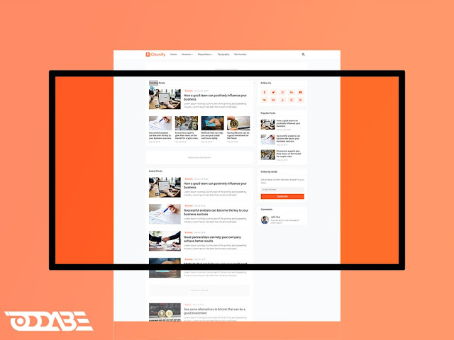 oddabe - cleanify blogger template