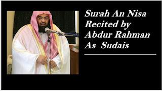 Surah An Nisa by Sheikh Abdur Rahman As Sudais,