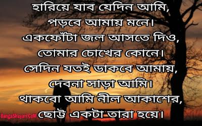 Bengali Shayari in Bengali font