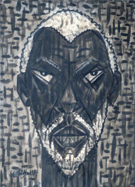 Dibujo: Oungun Dios de la guerra, 1957