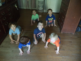 children crawling instead of running