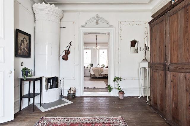 Accente vintage și shabby chic într-un apartament de 92 m²