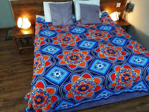 Persian Tiles. Blanket Pattern Free