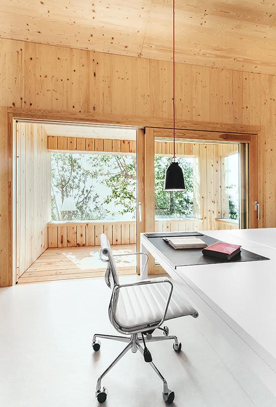Casa estudio de madera - Dom Arquitectura