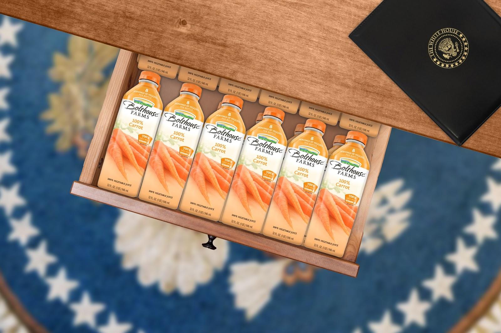 """""""Nanu?!"""": Biden findet 78 Flaschen Karottensaft in Schreibtischschublade"""