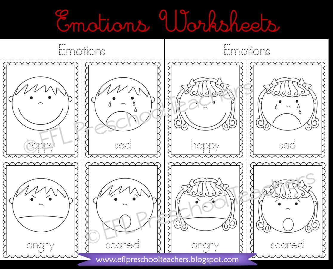 Esl Efl Preschool Teachers Emotions Theme For