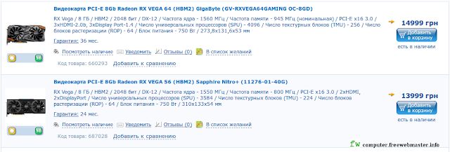 Radeon RX серии Vega