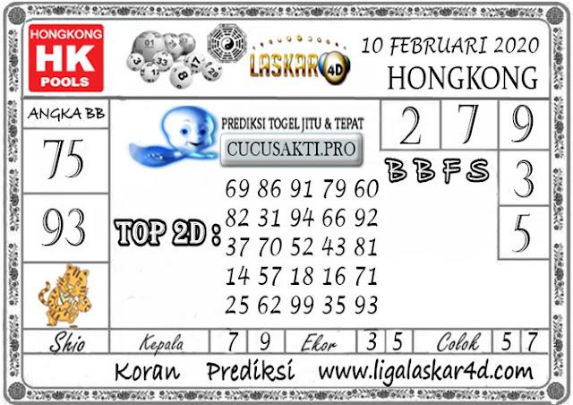 Prediksi Togel HONGKONG LASKAR4d 10 FEBRUARI 2020