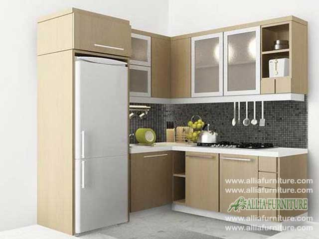 kitchen set sudut L minimalis tropico