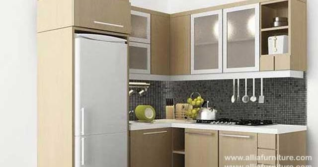 Kitchen Set Sudut L Minimalis Tropico Allia Furniture