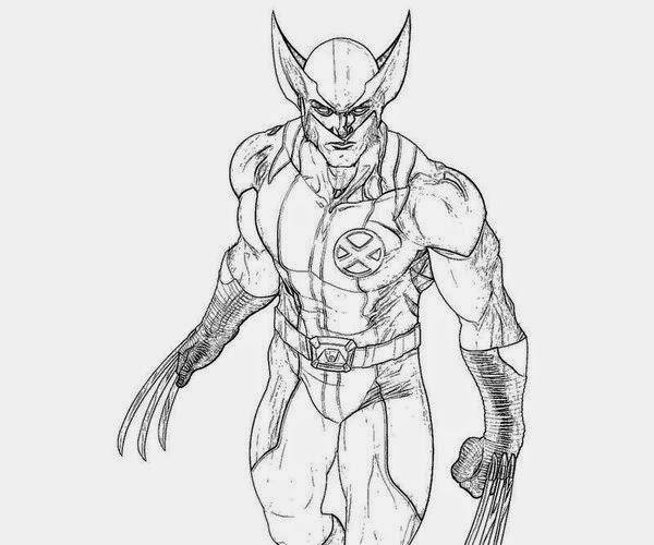 Seeing Action From Wolverine Coloring Pages Free New