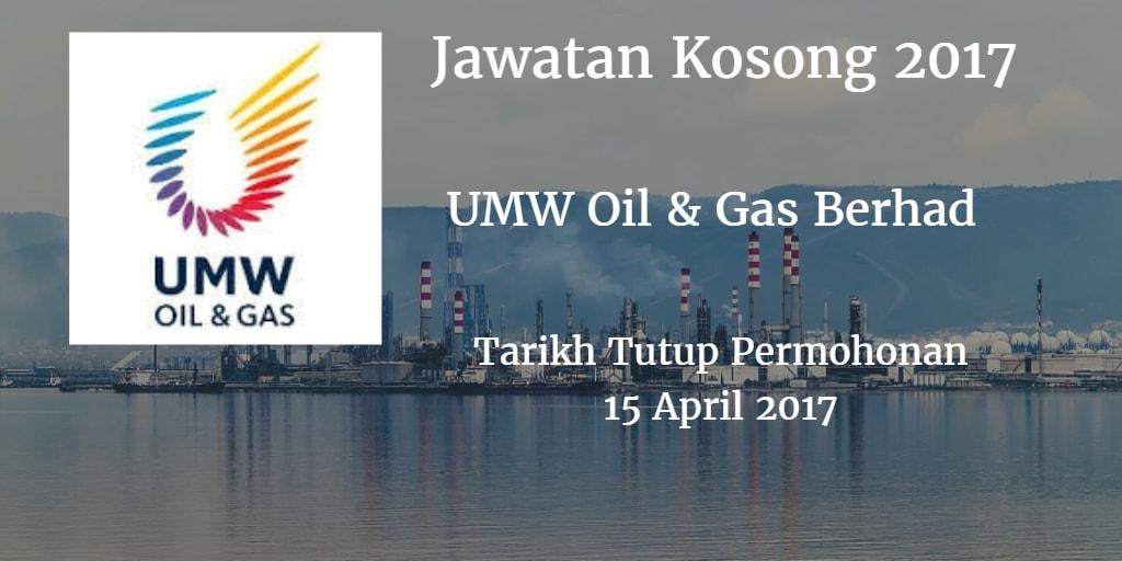 Jawatan Kosong UMW Oil & Gas Berhad 15 April 2017