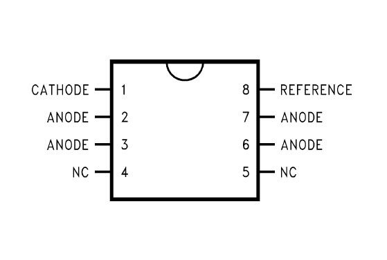 LM431 8-Pin Surface Mount Zener Shunt Regulator Circuit Schematic