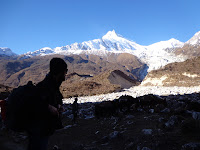 Manaslu trekkers at the Manaslu base camp trek
