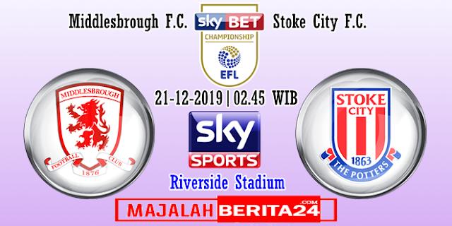 Prediksi Middlesbrough vs Stoke City — 21 Desember 2019
