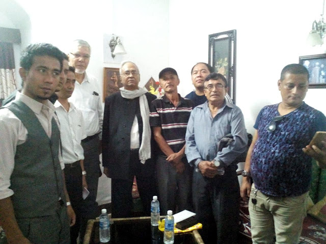 GNLF with Ex MLA NB Chhetri met Minister Abdur Razzak Molla