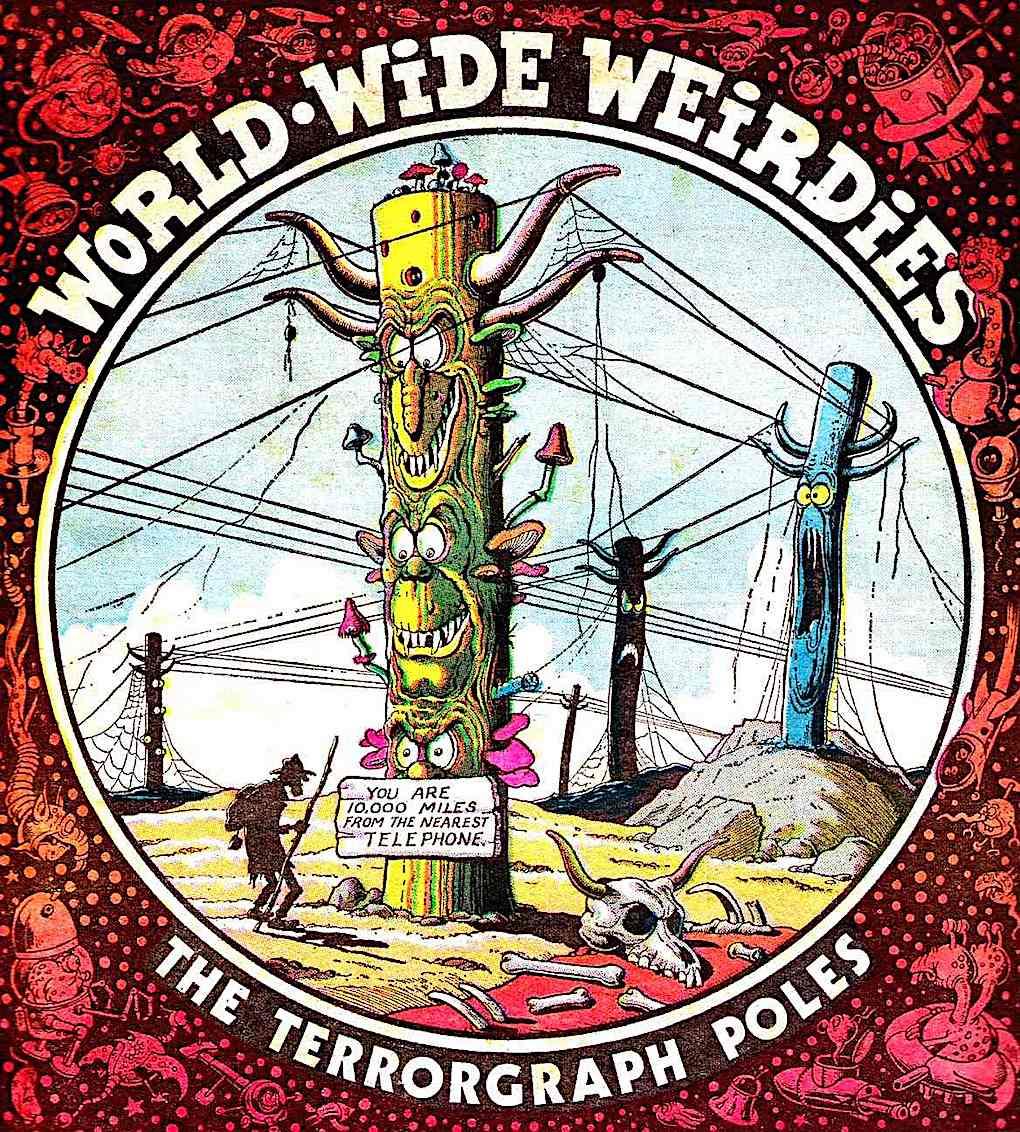 Ken Reid 1970s cartoon, lost traveller, World Wide Weirdies