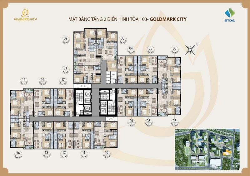 Mặt bằng Ruby 3 dự án Goldmark City