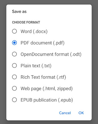 Save as PDF document (.pdf)