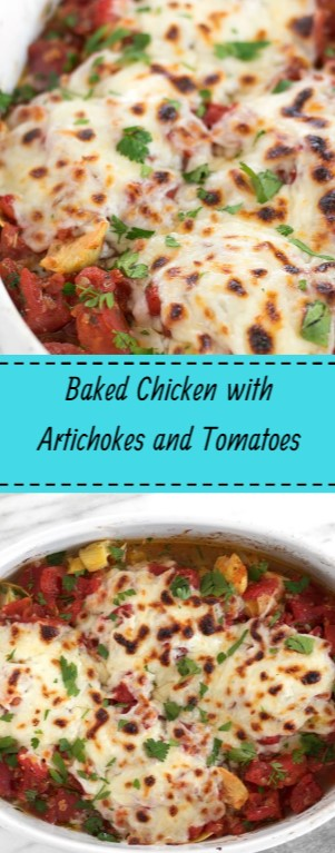 Baked Chicken with Artichokes and Tomatoes