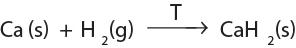 reaksi alkali tanah dengan gas hidrogen