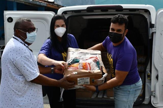 Prefeitura de Alagoinhas distribui alimentação para lares de idosos do município