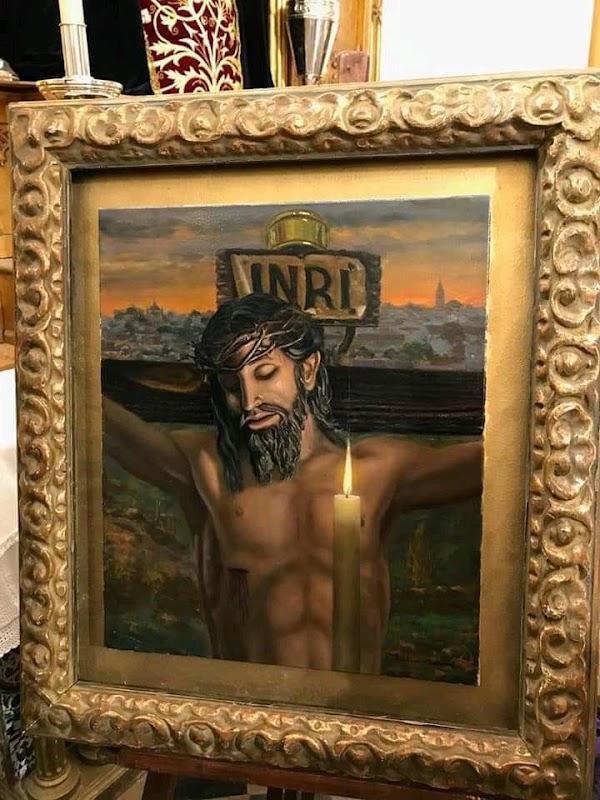 Cartel anunciador de la Procesión Extraordinaria de la imagen del Santísimo Cristo de la Buena Muerte de Valverde del Camino.