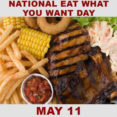 National Eat What You Want Day Wishes Images