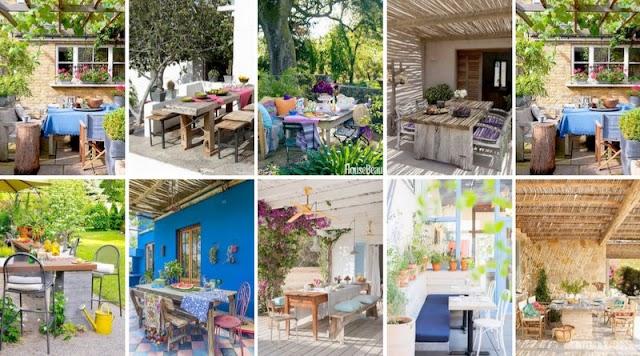 Ιδέες για Τραπεζαρίες σε Κήπο-Μπαλκόνι