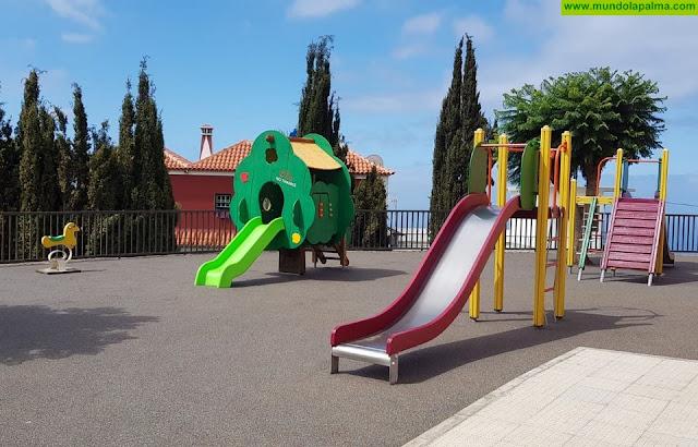 Termina la rehabilitación del parque de la urbanización del Lomo de Machado en Tijarafe
